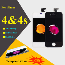 5PCS Screen For iphone 4 4s LCD Repair Display Touch Screen Digitizer Assembly 4s LCD Screen Replacement Quality AAA(China)