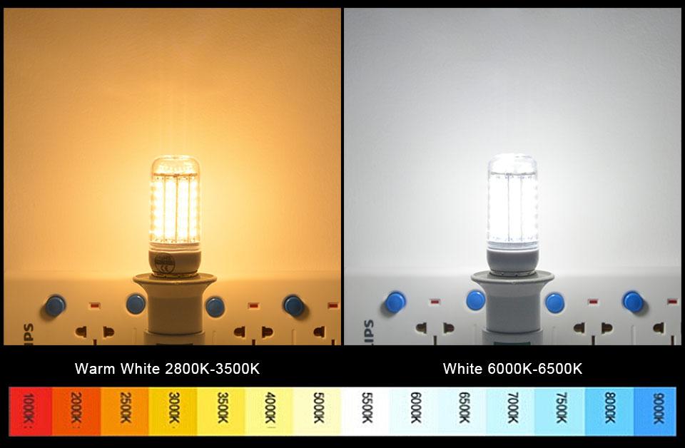 SMD5730 Lampada LED Corn Bulb E27 E14 High lumens Bombillas Light 24-72LEDs AC220V-240V LED Energy saving Lamp indoor Lighting