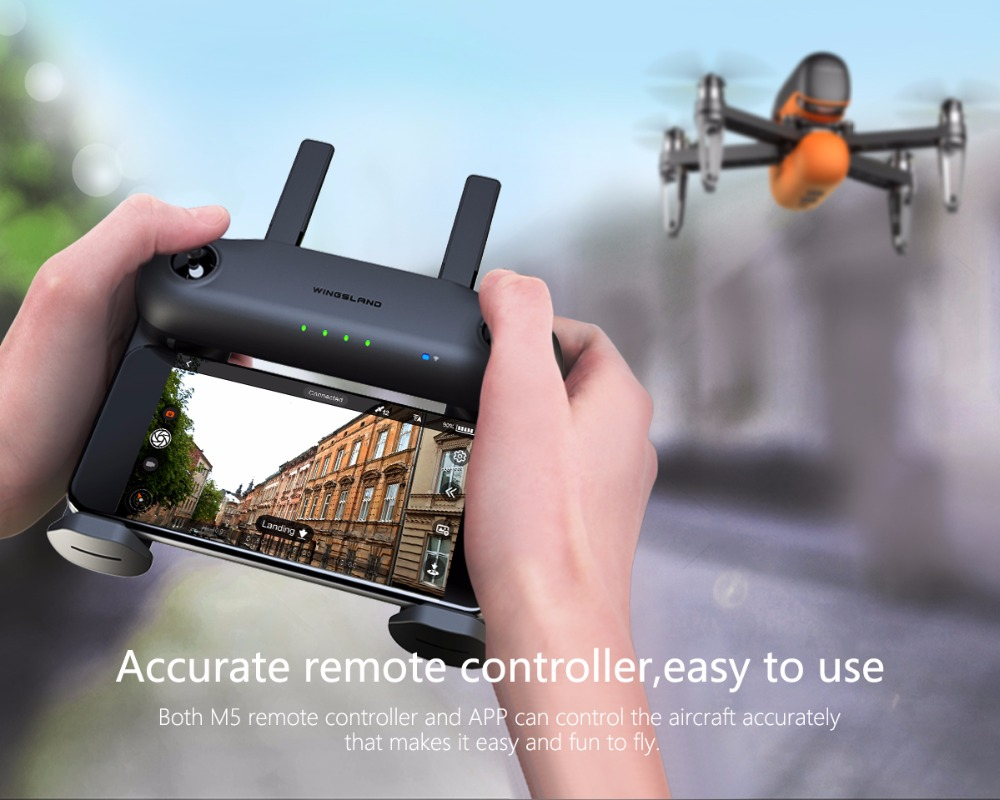 M5 Smart Portable Drone FPV Racing Quadcopter 4-axis Aircraft with APP Control + R6 Remote Controller High Speed RC Mini Toy