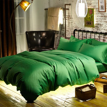 60S Egyptian Cotton Sateen woven fabric emerald green duvet cover bed queen bedspread king bedding sets quilt blanket cover