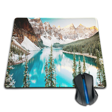 Babaite winter moraine lake alberta canada Anti-Slip Rubber Mouse Mat Pad Funny Computer Mouse Mat Mice Pads Soft Silicone Mouse