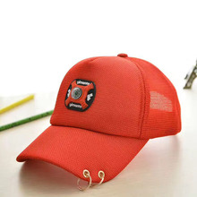 Promotion Boy Hip Hop Snapback Best Cool Fashion Hat Girl Applique Style Net Cap Girls Boys Iron Ring Baseball Cap Gorras