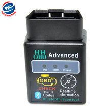2015 HH OBD MINI ELM327 v1.5 Black Bluetooth OBD2 Car CAN Wireless Adapter Scanner TORQUE ANDROID Free Shipping(China)