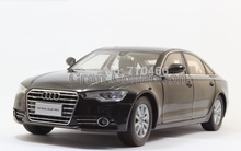 Black Car Model New Audi A6L A6  2012 Diecast Model Car Luxury Vehicle Festival Gifts