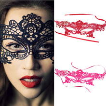 Hot sale 1pc Sexy Beautiful lady Black Lace Floral Eye Mask Venetian Masquerade Fancy Party Prom Dress Accessories drop shipping(China)