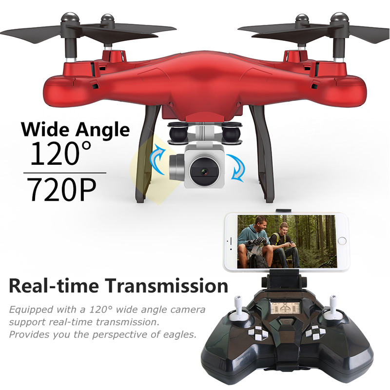 Super Drone Warrior S5 RC Helicopter Drone Quadcopter 2.4GHz 4CH 6 Axis 2MP HD Camera RTF Remote Control Professional Dron Toys