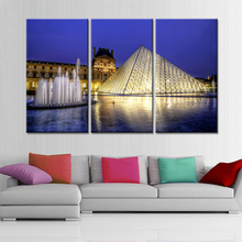 Drop Shipping 3 Panels Paintings for Living Room Wall Art Pictures Night Landscape Home Cuadros Decoration Quadros No Frame