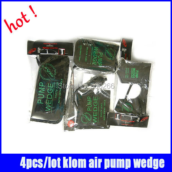 4pcs/lot 100% original klom air wedge locksmith tools black air wedge pump wedge Professional Diagnostic Tool<br>