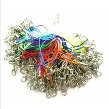 Lot 1set 100pcs 20color mix colors DIY Mobile Cell Phone cords Strap Lariat Lanyard Lobster Clasp