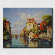Classical Italy city landscape oil painting home decoration wall paintings canvas art for friends gift
