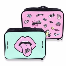 Cartoon Lovely Design Women  Travel Handbag Clothes Storage Bag Airplanes Boarding Bag Large Capacity