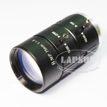 8MP 75mm Fixed Focus Manual IRIS CS Mount CCTV Lens / C-Mount Lens for Industrial Microscope Camera