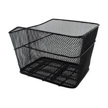 Bicycle Rear Basket Net Basket Rainproof Cover Foldable Iron Net Large Car Basket Iron Net Basket Electric Bike Cycling