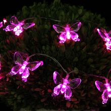 Butterfly hanging flashing 2m decoration led battery lighting string lantern Christmas