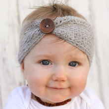 1 pcs Newborn girl woolen knitted elastic headbands  kids newborn hair bands turban headband headwear head band hair accessories
