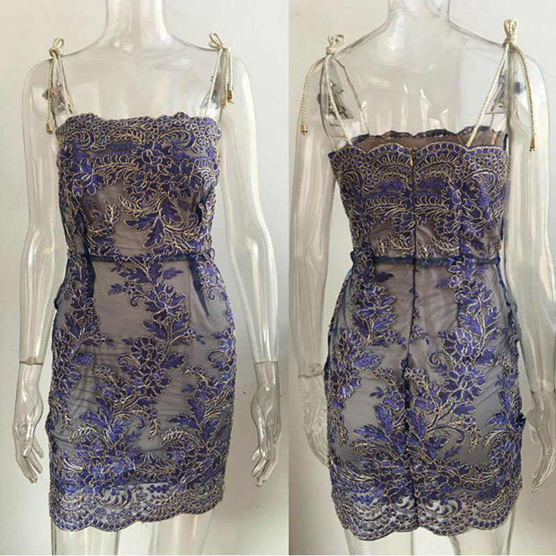 Strap Embroidery Lace Sexy Women Mini Dress 2017 New Autumn Elegant Sheath (12)