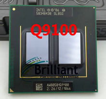 free Shipping Laptop cpu processor Intel original Q9100 2.26GHz/12MB/1066MHz PGA478 scrattered pieces For GM45 PM45