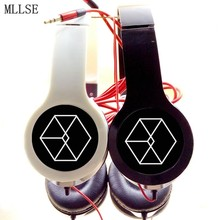 MLLSE EXO PLANET EXO-K  XOXO MAMA Logo Foldable Stereo Bass Headphones Music Game Earphone Wired Phone Headset for Computer