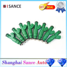 ISANCE 8Pcs Flow Matched Fuel Injector 0280155968 0280155968 For Audi BMW Chrysler Dodge Ford Mitsubishi Plymouth VW Lancia(China)