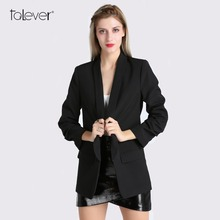 Buy Spring Women Blazer Jacket Fashion One Button Shawl-Collar Blazer Suit Female Casual Fixed Ruched Design Ladies Coat Talever for $19.99 in AliExpress store