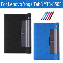"New Silicone Tablet PC Case Cover For Lenovo Yoga Tab3 YT3 850 YT3-850F YT3-850M YT3-850L Back Shell 8"" For Yoga Tab 3 YT3 850F(China)"