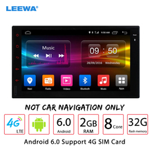 LEEWA 7inch Universal Android 6.0 (64bit)DDR3 2G/32G/4G LTE Car Media Player With GPS Navi Radio For Nissan/Hyundai 2DIN ISO(China)