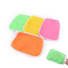 1PC Exfoliating Mitt Scrub Glove Preparation Shower Scrub Gloves for Sunless Self Tanning Random Color 20*14cm(China)