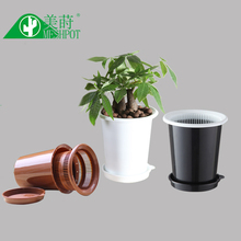 Meshpot Orchid Flower Pot Double Layers Garden Pot Mesh,Root Controlling Patent Technology,Excellent Drainage(ID. : 4.7 Inch)(China)