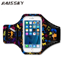 Haissky 5.5'' Sport Armbands For iPhone 6 7 Plus Xiaomi Redmi 4 4X Huawei P9 P10 Samsung S8 Plus Waterproof Running Gym Case(China)