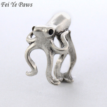 Fei Ye Paws New Fashion Vintage Octopus & Sea Animal Ring Anel Rings For Women Men Jewelry Best Gift For Gift Box Packed(China)