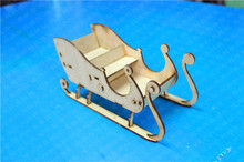 NIDALE model DIY Assembly model kits Christmas sleigh wooden model(China)