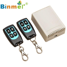 Beautiful Gift New 12V 4CH Channel 433Mhz Wireless Remote Control Switch With 2 Transmitter Wholesale price Apr21