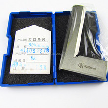 Stainless Steel 80 x 50mm Bladed 90 Degree Angle Try Square Ruler(China)