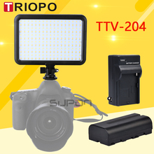 Triopo TTV-204 Photographic Equipment LED Camera Video Light Lamp Panel 3200K~5500K Dimmable Canon Nikon Pentax DSLR - Master store