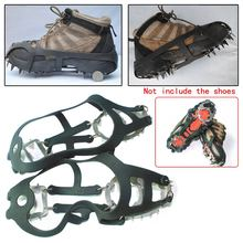 New Arrival 18 Teeth Non-slip Ski Ice Snow Claws Crampons Spikes Mountaineering Hiking Climbing Anti-slip Shoe Cover M/L