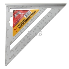 "2017 Mini 7""Square Carpenter's Measuring Ruler Layout Tool Triangle Angle Protractor MAR25_15(China)"