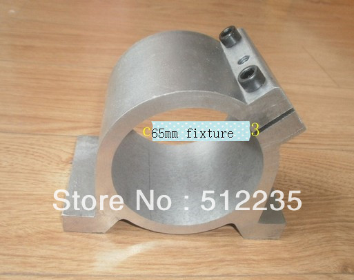 Free Shipping  spindle clamp 65mm aluminum spindle mounts/fixture/chuck/ bracket Clamp/holder Clamps/ hold seat /fastening<br>
