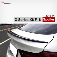 M-Performance style carbon fiber rear trunk wing spoiler aerodynamic body part for bmw x series x6 f16 car tuning great fitment