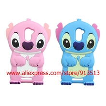 Silicone Cartoon Stitch Design Cell Phone Case Cover For BQ Aquaris U Plus