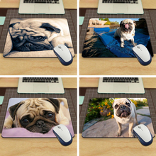 Funny Cute Pug Dog with Box  Packed Silon aming Mouse Pad 180x220x20mm