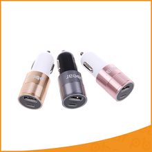 USB Car Charger Type-C Dual two Ports Car Charger with LED Light DC 12-24V Rapid Power For Iphone Samsung HTC Digital Cameras(China)