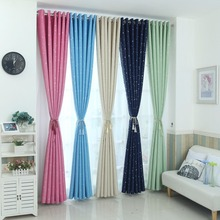 Modern stars blackout curtains kids bedroom curtain for living room Elegent Bule Drapes Cortinas para sala(China)