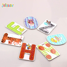 Jollybaby 26PCS Alphabet A To Z letters Paper Creative Cognitive Alphabet Card Educational Toys For Children FJ88(China)