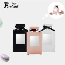 Fashion perfume modeling make-up jewelry box with mirror Rings Earrings Necklaces Cosmetics organizer Dust  Desktop storage box