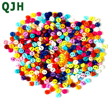 600Pcs/lot 6mm Round Resin Mini Tiny Buttons Sewing Tools Decorative Button Scrapbooking Garment DIY Apparel Accessories(China)