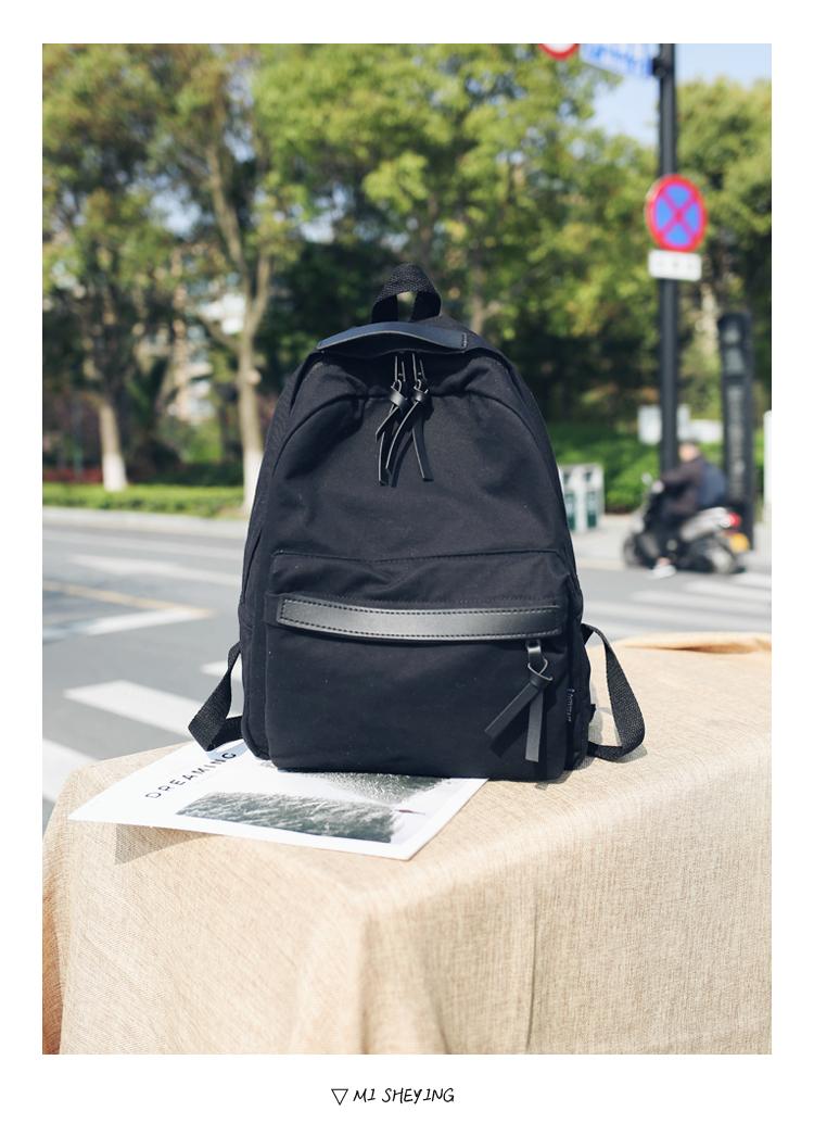 Menghuo High Quality Women Canvas Backpack Teenage Girls Leisure Backpack Bag Vintage Stylish Female School Bag Bookbag Mochilas (9)