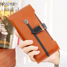 KISSCASE Men Women Handbag Phone Cases For iPhone 6 7 6S Plus Case 5 5S SE Leather Purse For Samsung Galaxy S6 S7 Edge J5 J7 A7(China)