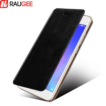 Raugee Flip Stand Case For Meizu M6 Mini Luxury Protective Back Cover PU Leather Phone Holder fundas for Meizu M6 Mini(China)