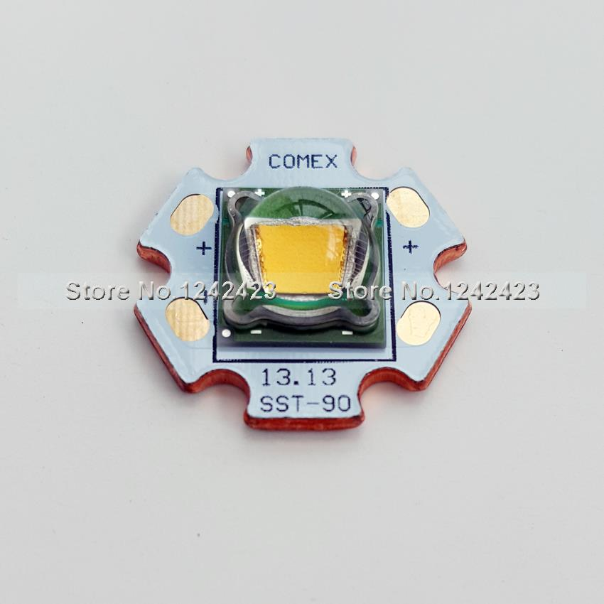 1 Piece Luminus SST-90 LED star warm white 3000k 30W 2250 Lumens LED Emitter with 20mm Copper Board SST90 LED Electronic Parts(China (Mainland))