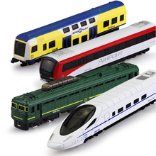 Alloy Toys Model Train Mini Model Trains Diecast Vehicle Express Train Metro Models Simulation Toys for Boy Children Gifts(China)